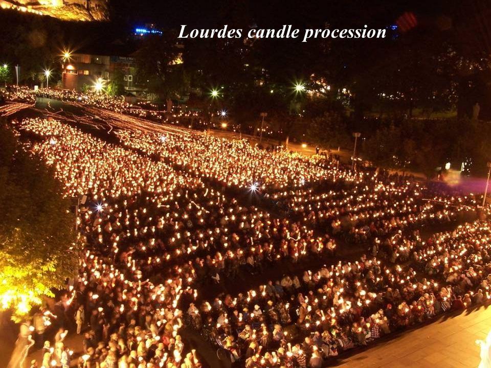 Lourdes candle procession