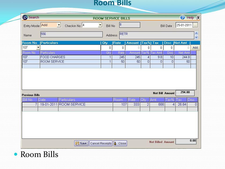 Room Bills