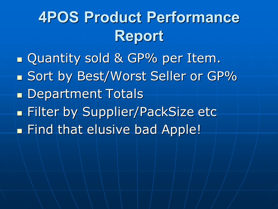 Quantity sold & GP% per Item. Quantity sold & GP% per Item.