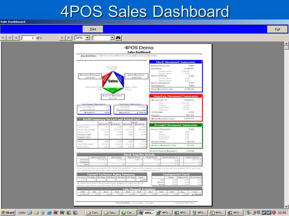 4POS Sales Dashboard