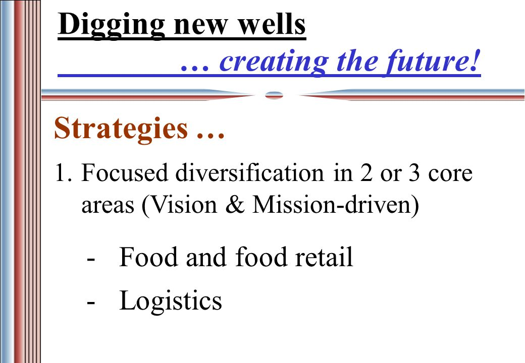 Digging new wells … creating the future.