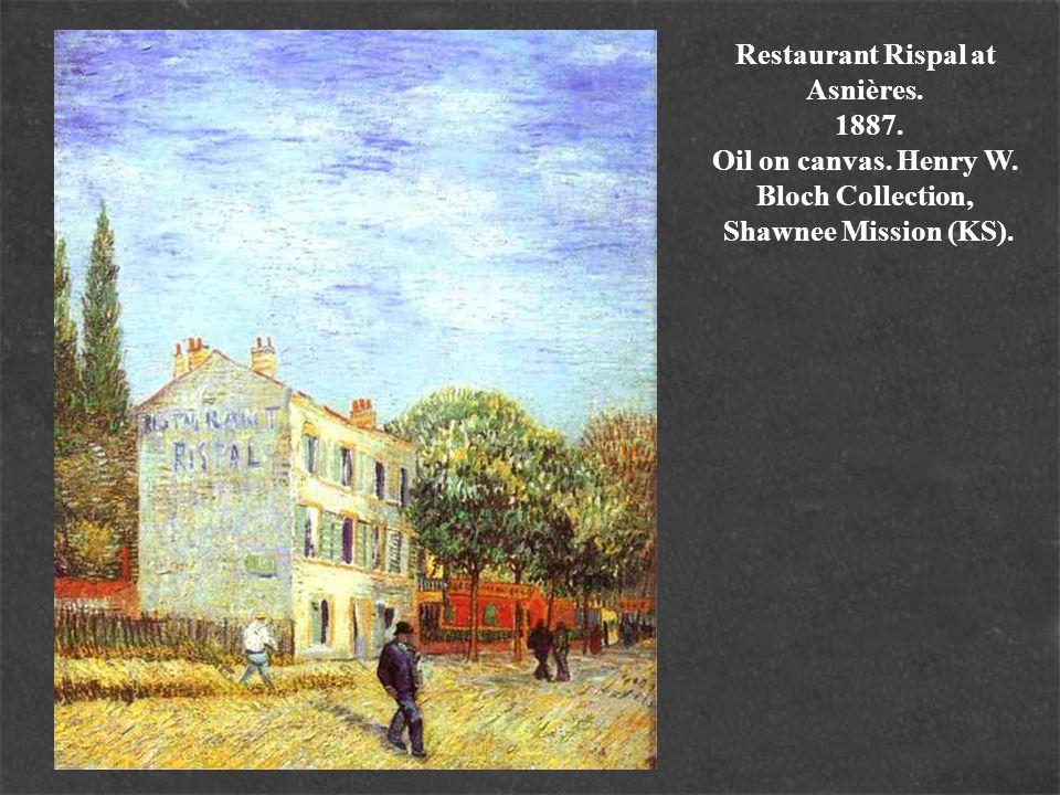 Restaurant Rispal at Asnières. 1887. Oil on canvas. Henry W. Bloch Collection, Shawnee Mission (KS).