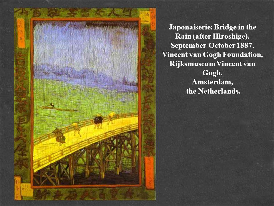 Japonaiserie: Bridge in the Rain (after Hiroshige). September-October 1887. Vincent van Gogh Foundation, Rijksmuseum Vincent van Gogh, Amsterdam, the