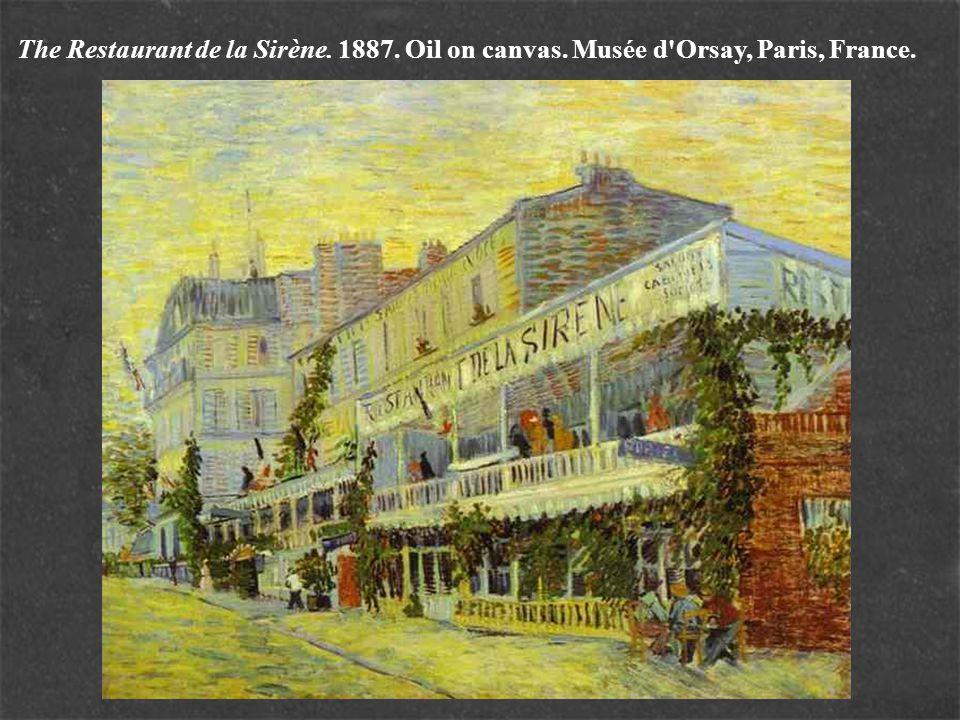 The Restaurant de la Sirène. 1887. Oil on canvas. Musée d'Orsay, Paris, France.