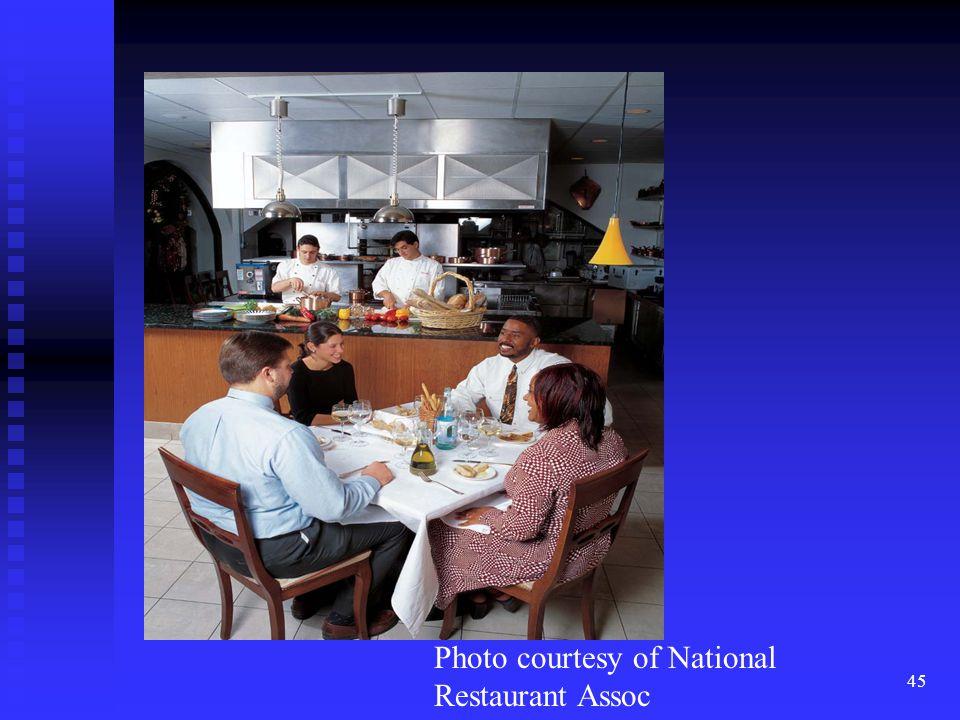 45 Photo courtesy of National Restaurant Assoc