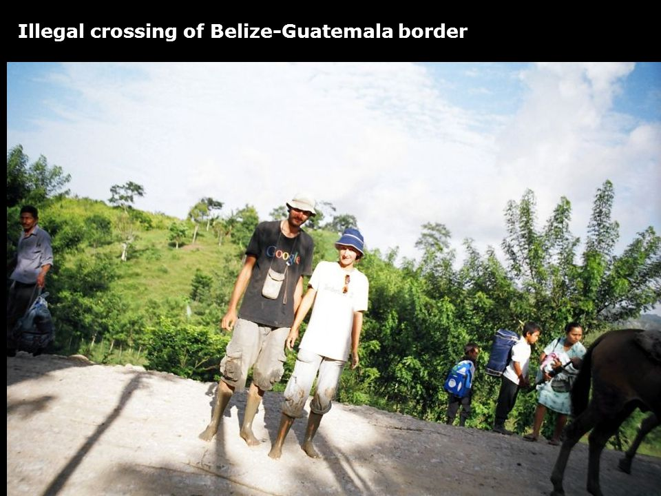 Illegal crossing of Belize-Guatemala border