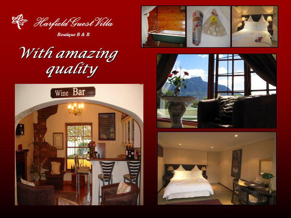 Harfield Guest Villa Boutique B & B Corporate -Rates Please enquire about our fantastic frequent travel rate!!!.