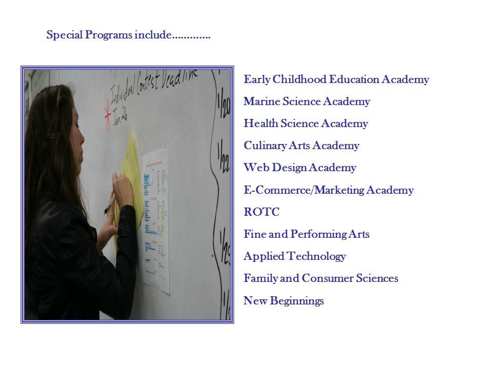 Special Programs include………….
