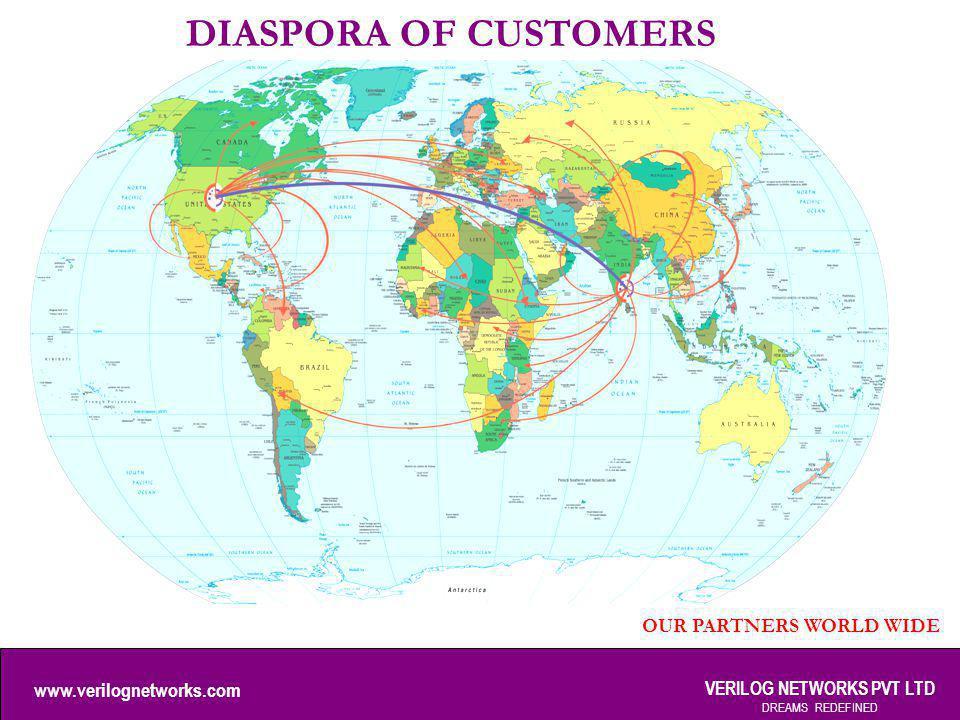 www.verilognetworks.com VERILOG NETWORKS PVT LTD DREAMS REDEFINED DIASPORA OF CUSTOMERS OUR PARTNERS WORLD WIDE