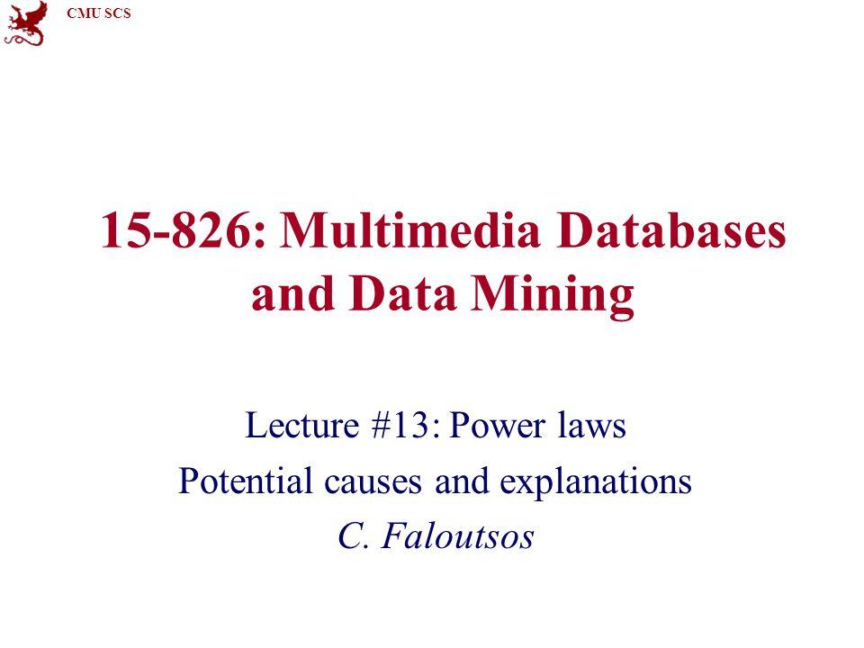 CMU SCS 15-826Copyright: C.