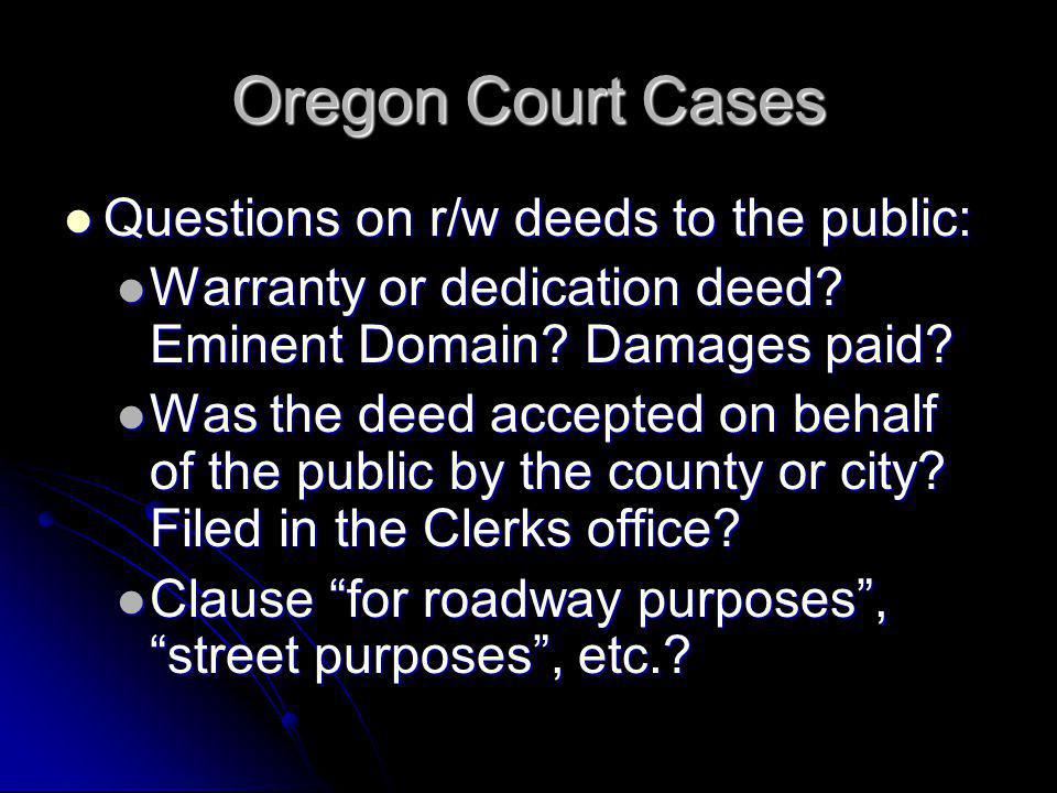 Discussion 1.Warranty Deed -30 x 70 2.To City of Newberg 3.No stated purpose Is the fee with the City.