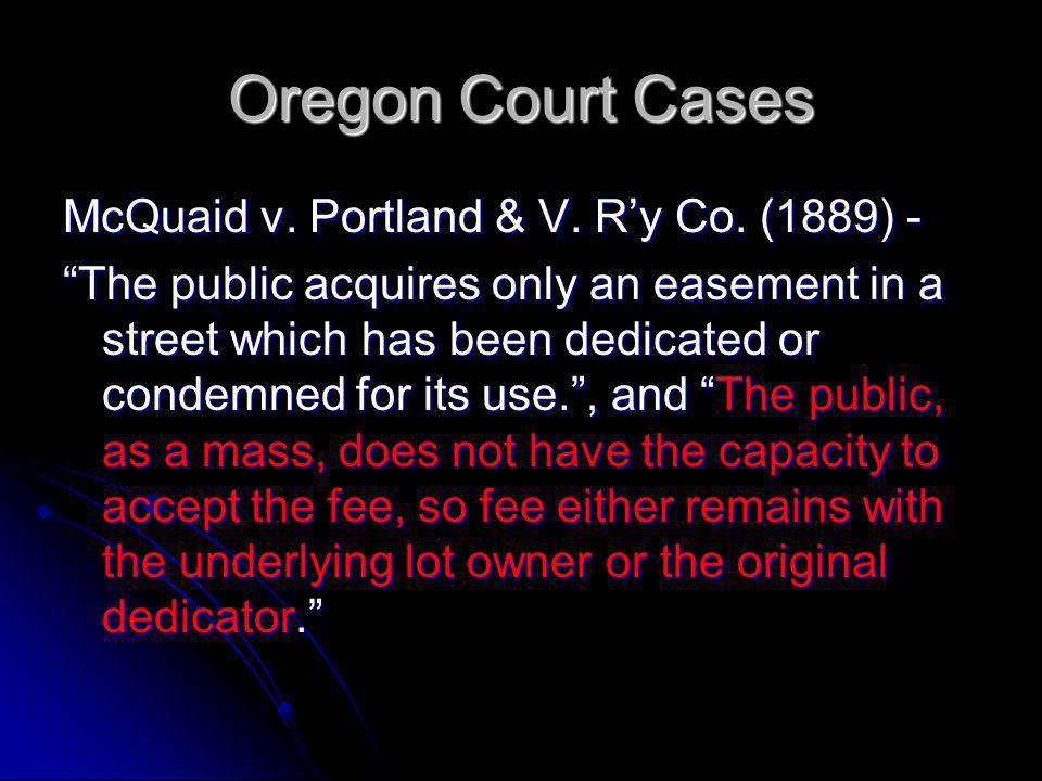 Exceptions Oregon Court of Appeals Realvest Corp.v.