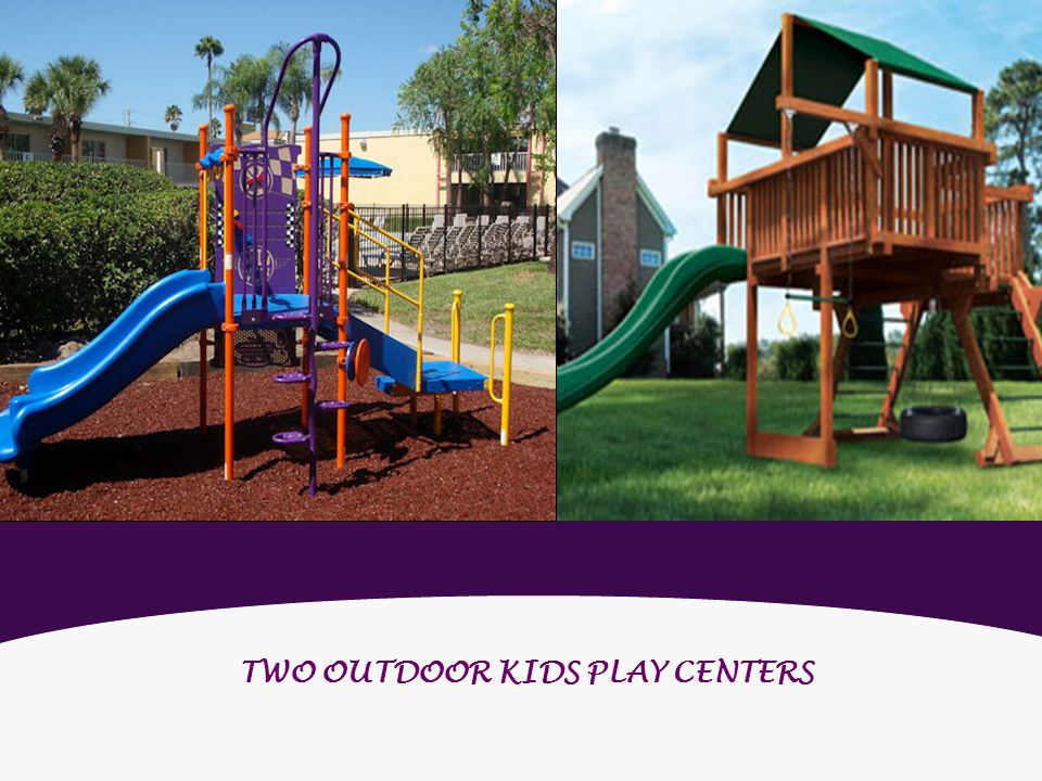 TWO OUTDOOR KIDS PLAY CENTERS