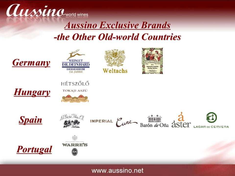 Aussino Exclusive Brands -the Other Old-world Countries Germany Hungary Spain Portugal