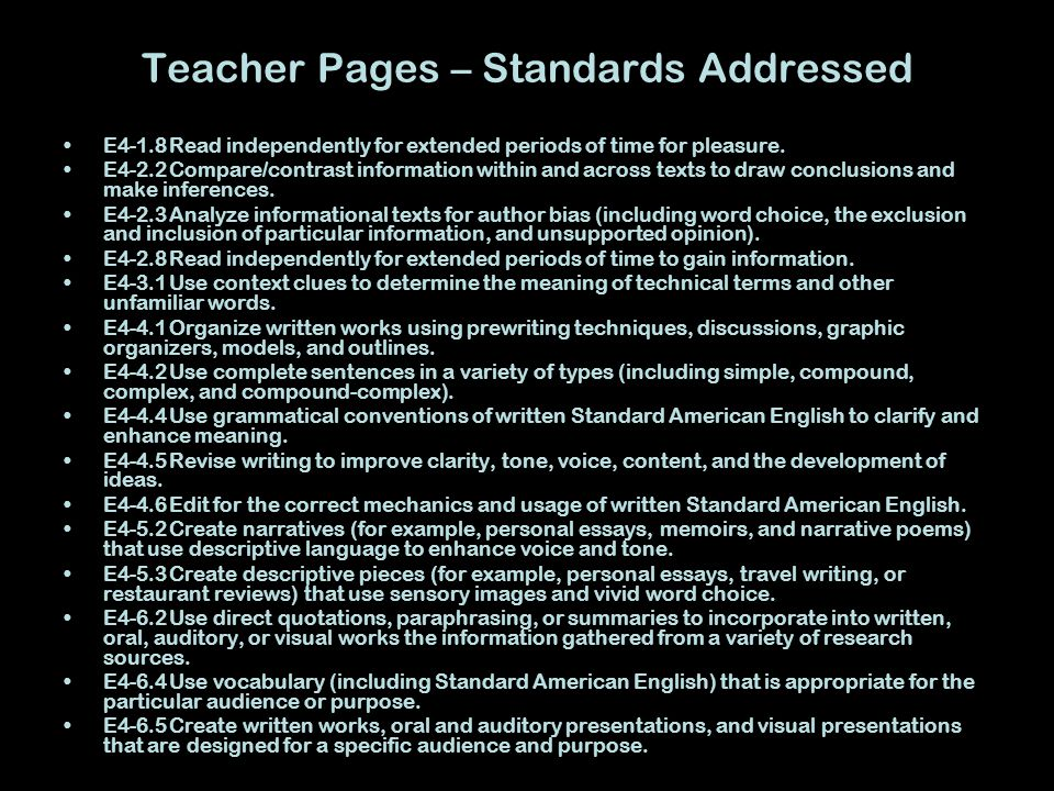 Teacher Pages – Use of Research Module This research module will be used as the introduction to our vampire novel unit.