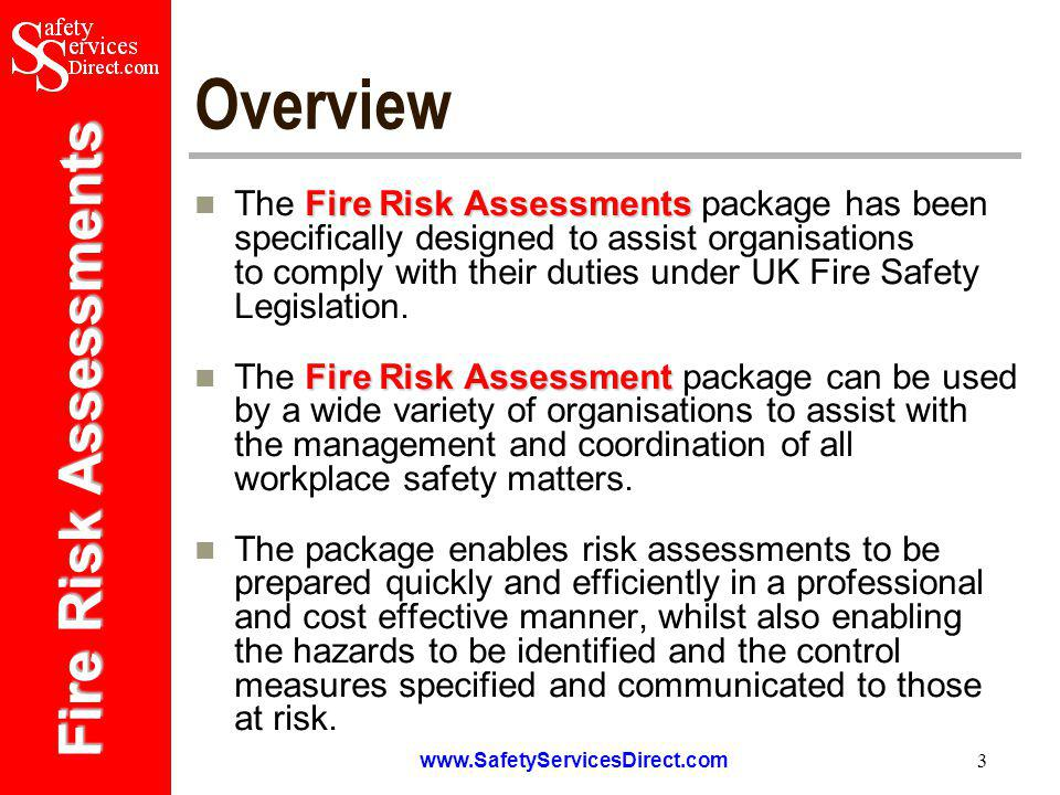 Fire Risk Assessments www.SafetyServicesDirect.com 14 Example Record Sheets from the Fire Safety Log Book