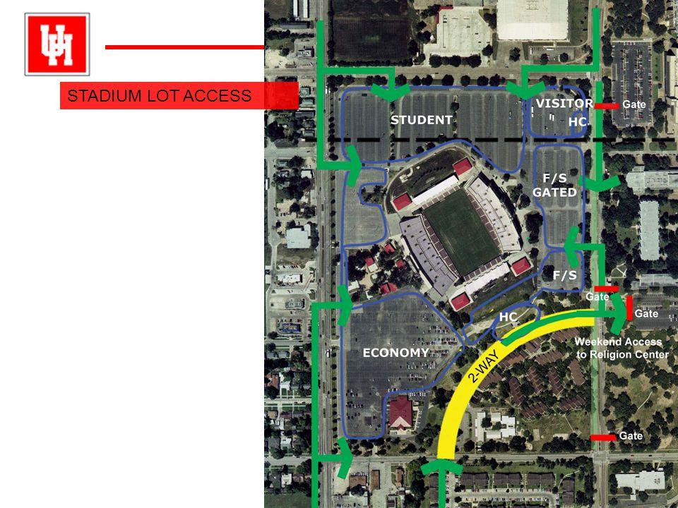 University ofHouston University of Houston STADIUM LOT ACCESS