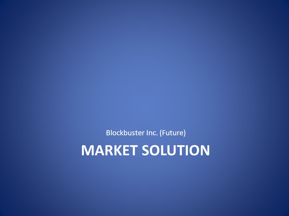 MARKET SOLUTION Blockbuster Inc. (Future)