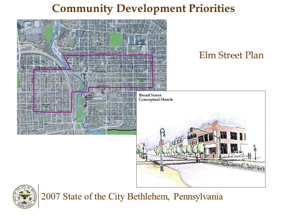 Community Development Priorities Elm Street Plan