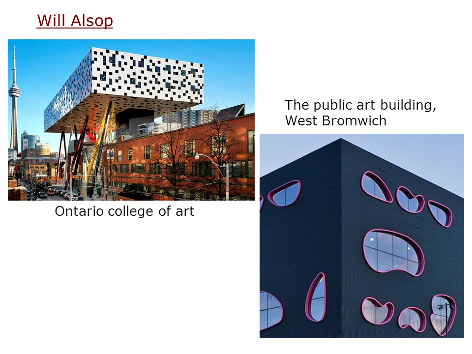 The public art building, West Bromwich Ontario college of art Will Alsop