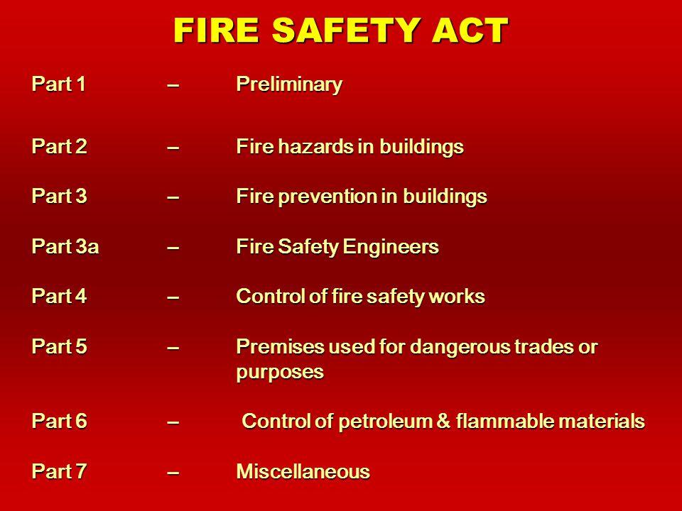 IMPLEMENTATION OF FSA Enforcement SystemEnforcement System Fire Safety Manager SchemeFire Safety Manager Scheme Registered Inspector SchemeRegistered