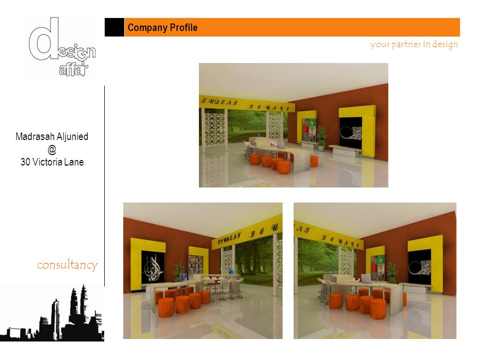 Company Profile your partner in design Madrasah Aljunied @ 30 Victoria Lane consultancy