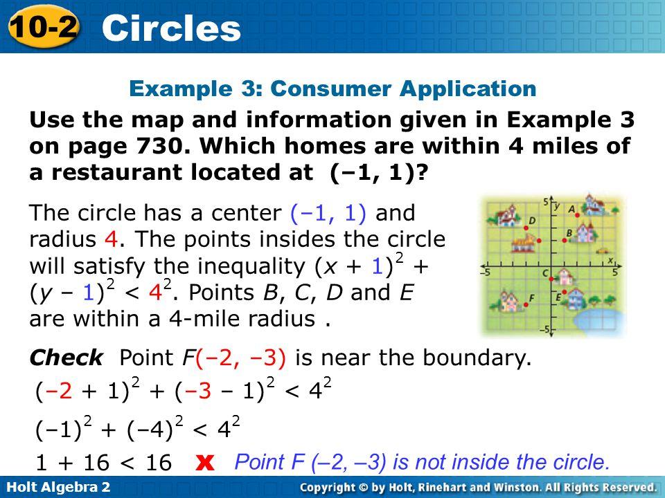 Holt Algebra 2 10-2 Circles What if….