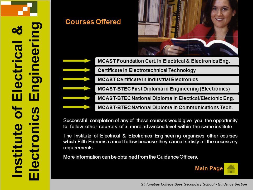 MCAST Foundation Cert.