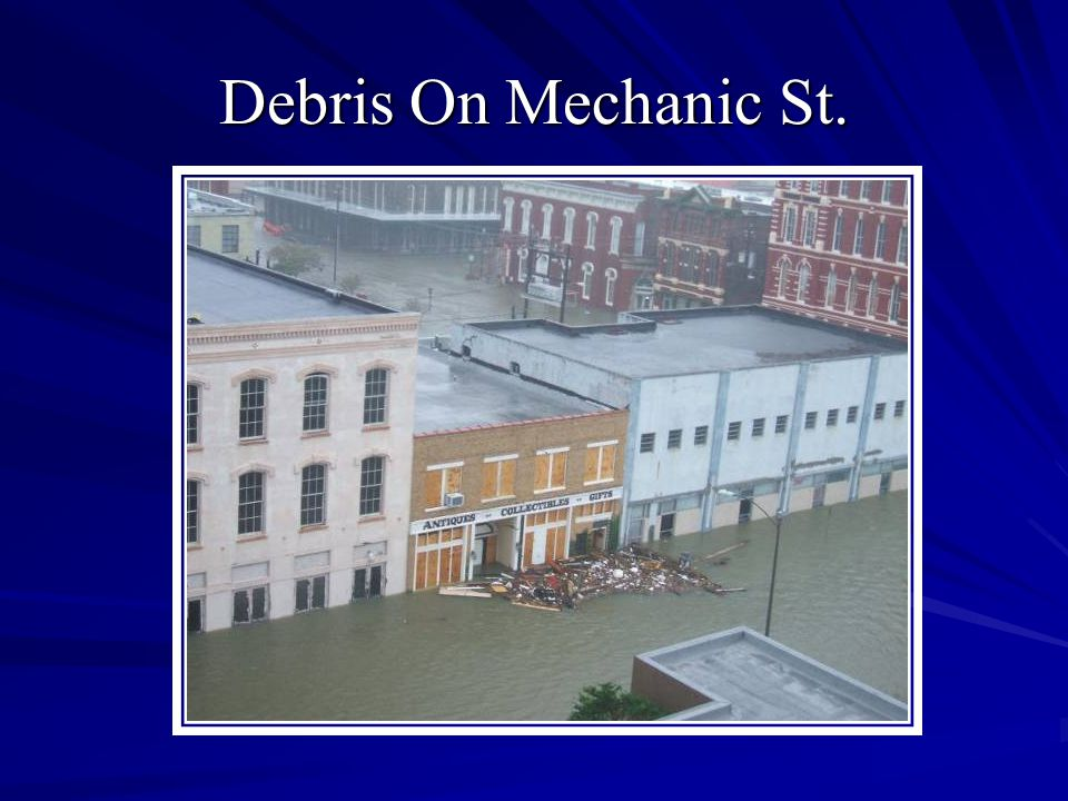 Debris On Mechanic St.