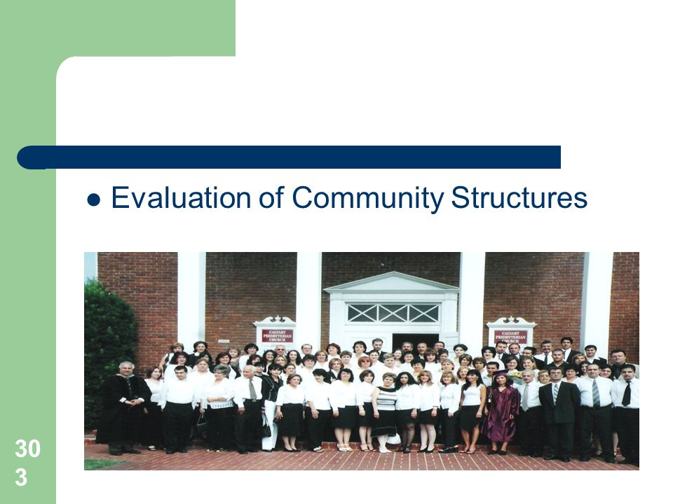303 Evaluation of Community Structures