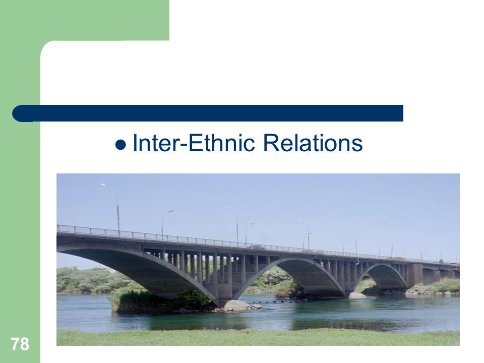 78 Inter-Ethnic Relations