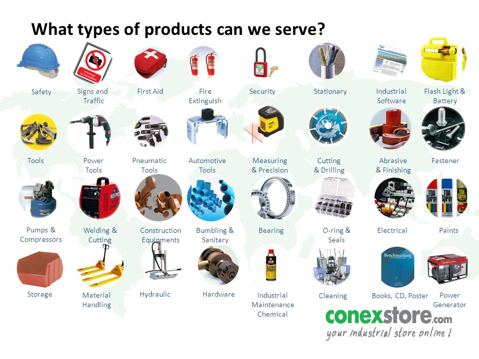 What types of products can we serve.