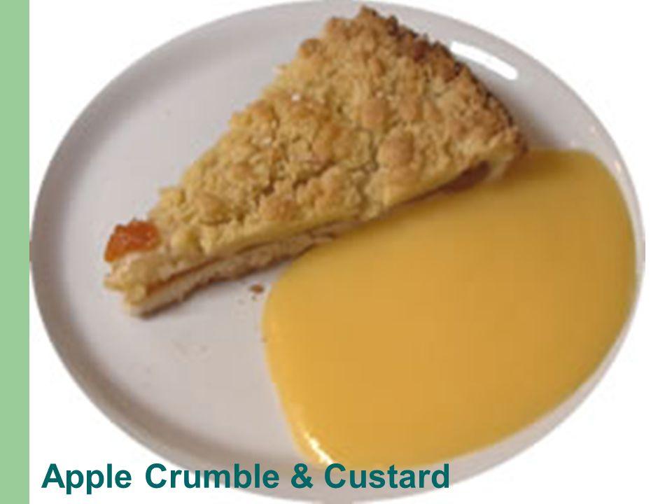 Apple Crumble & Custard