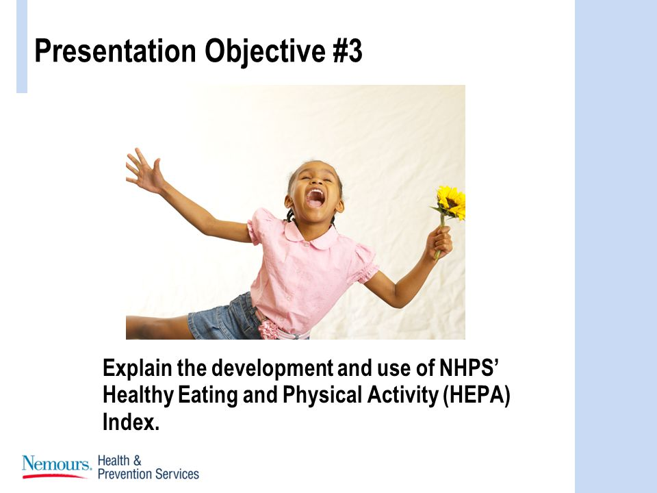 Explain the development and use of NHPS Healthy Eating and Physical Activity (HEPA) Index.