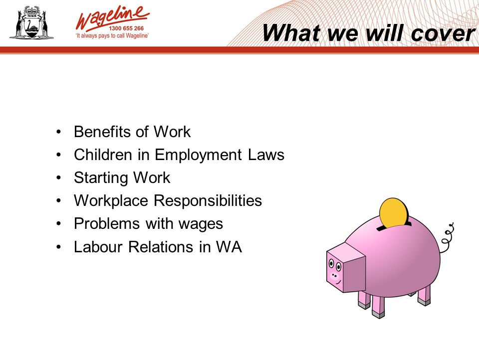 Social Money / Financial Skill gaining Educational Gives you a purpose Self esteem / confidence Benefits of Work