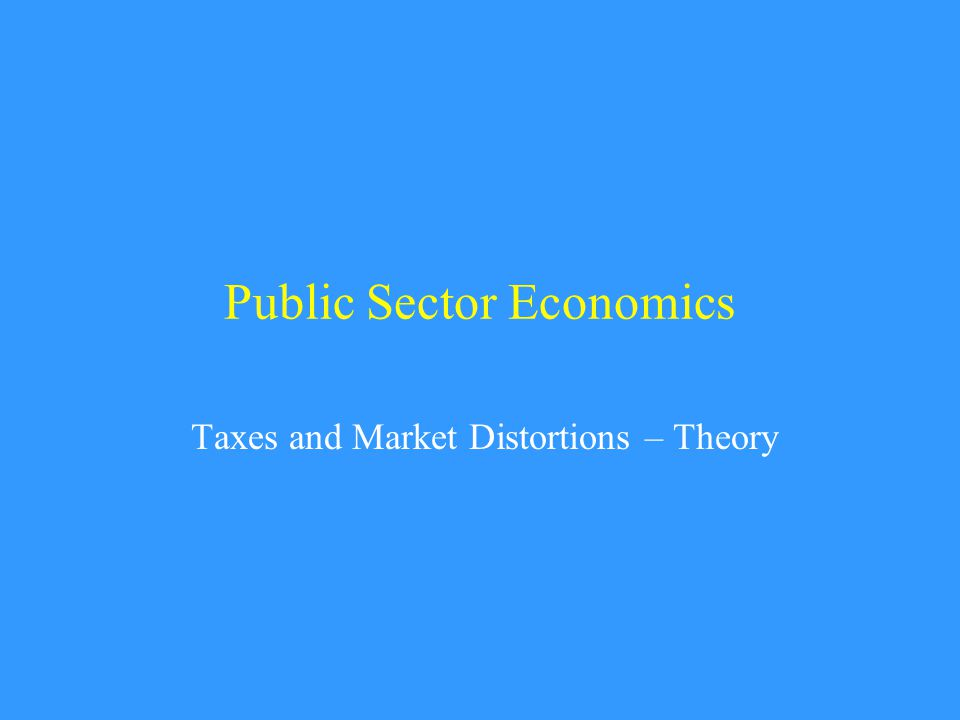 Main Lessons rational foundations of policy distortions how policy distortions are a result of incomplete markets why labor supply is so important tax equivalencies wealth vs.