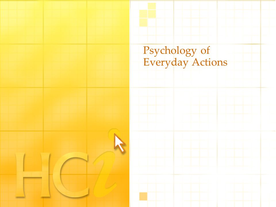 Psychology of Everyday Actions