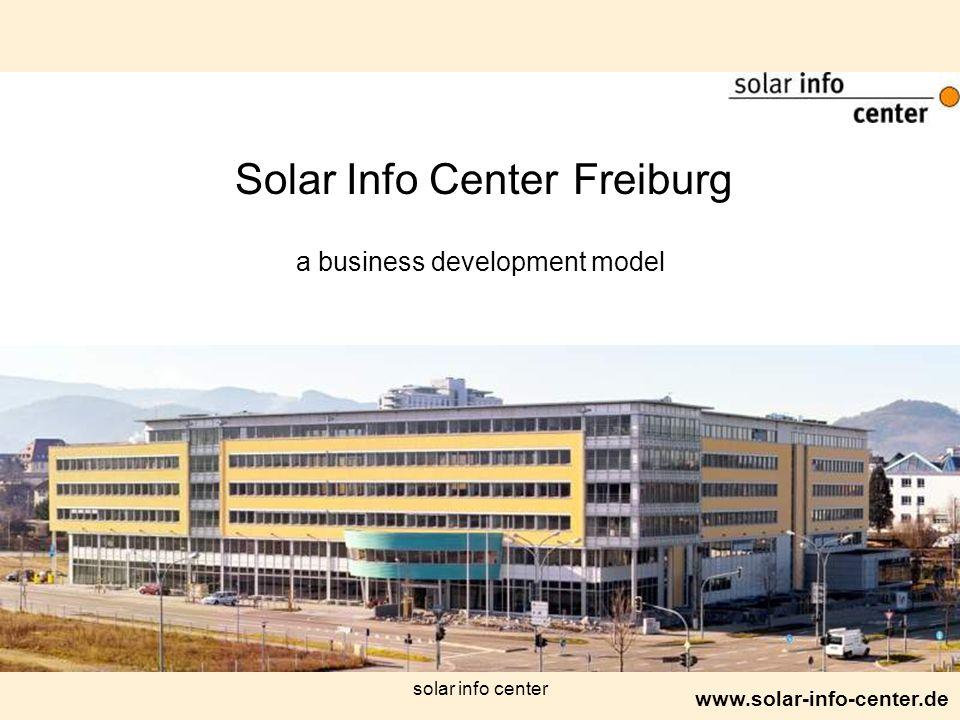 www.solar-info-center.de solar info center Solar Info Center Freiburg a business development model