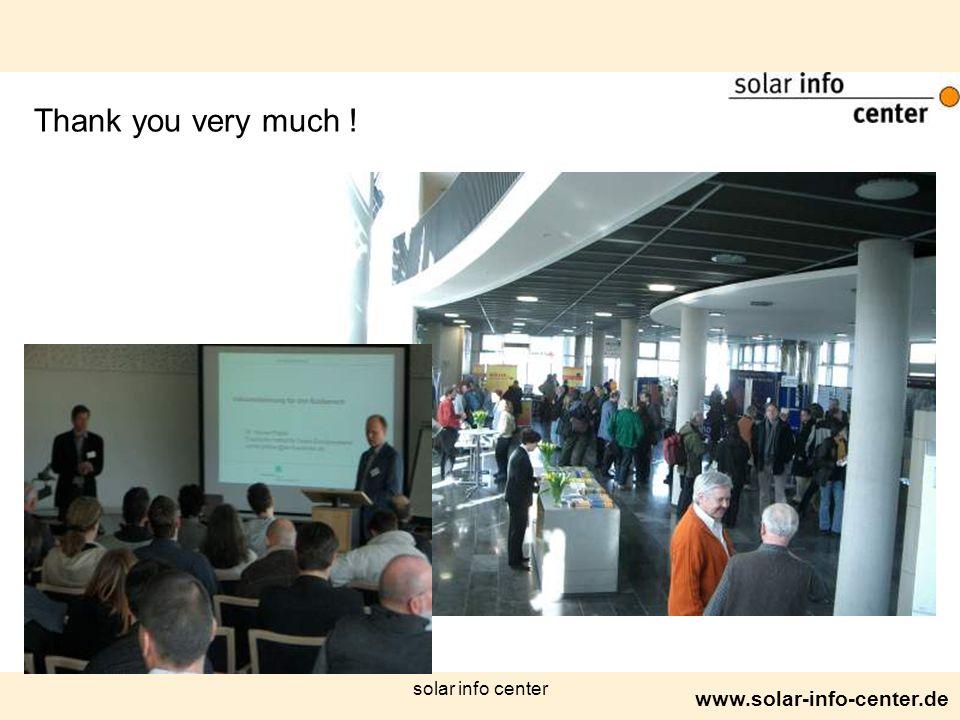 www.solar-info-center.de solar info center Thank you very much !