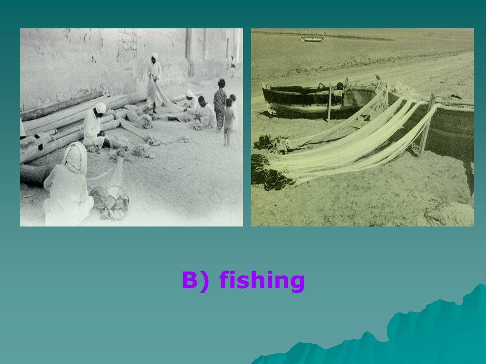 B) fishing