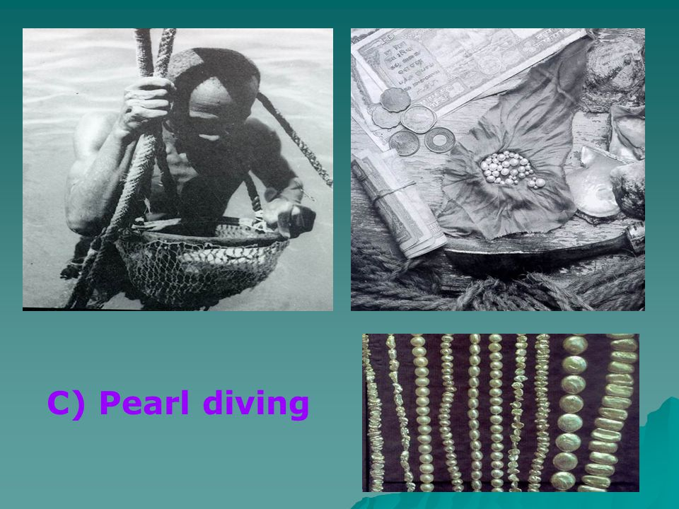 C) Pearl diving