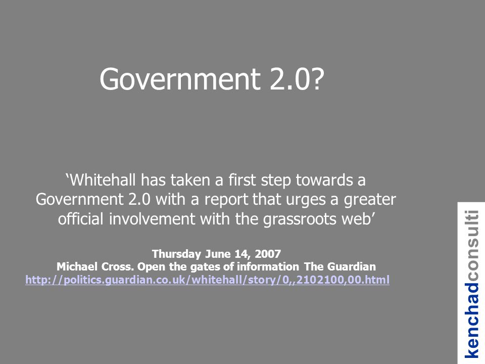 Government 2.0.