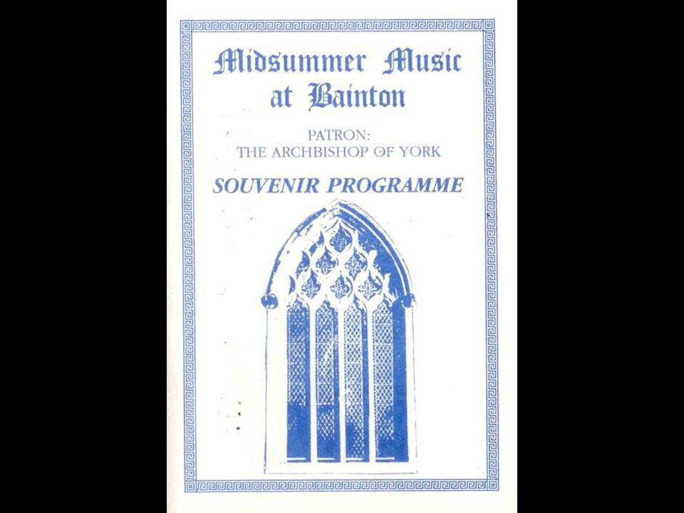 The Midsummer Music at Bainton Souvenir Programme