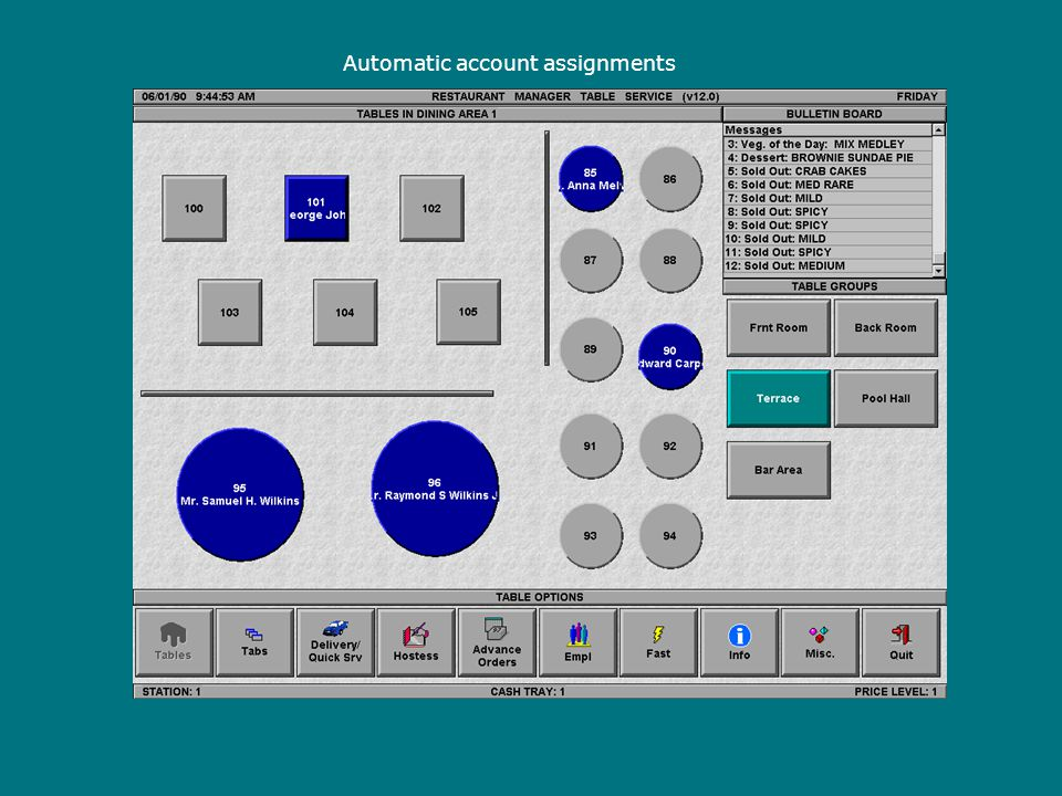 Automatic account assignments