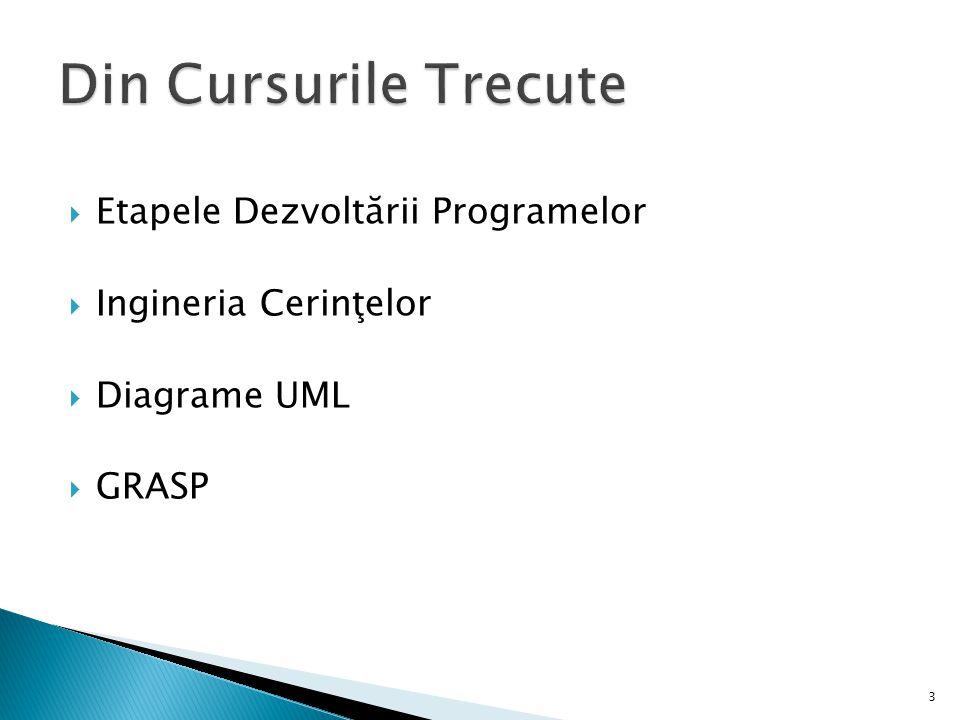 Etapele Dezvoltării Programelor Ingineria Cerinţelor Diagrame UML GRASP 3