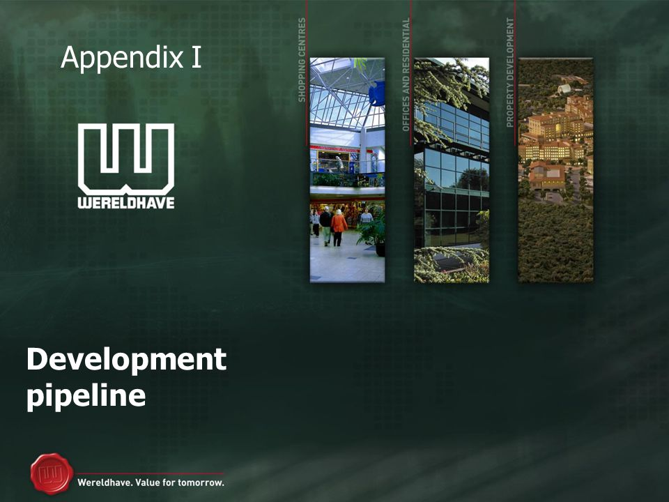 Development pipeline Appendix I