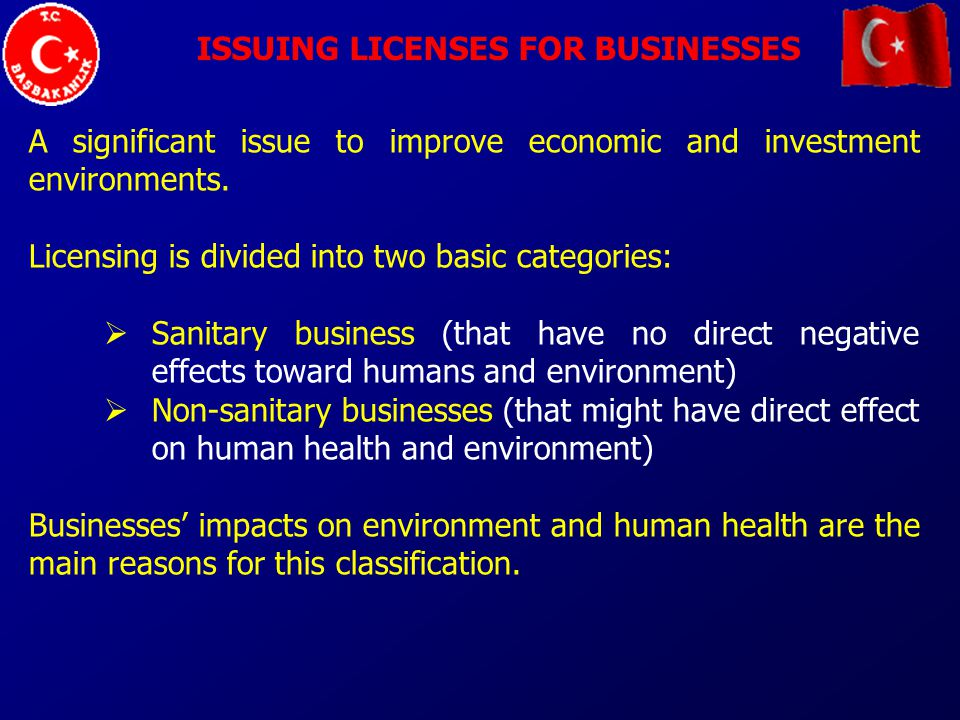 ISSUING LICENSES FOR BUSINESSES A significant issue to improve economic and investment environments.
