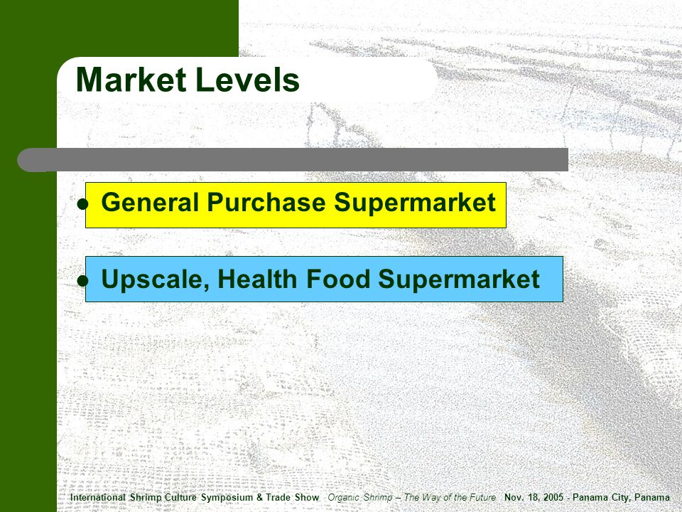 Market Levels General Purchase Supermarket Upscale, Health Food Supermarket