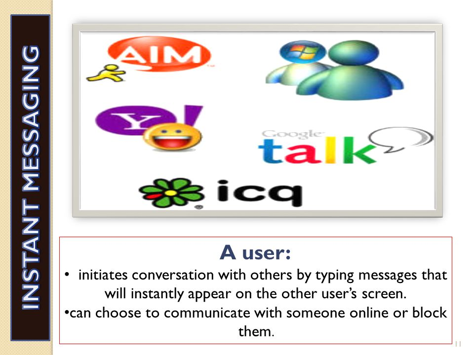allow users to initiate conversation by typing messages that will instantly appear on other users screen who are in the discussion. 10 CHATROOMS