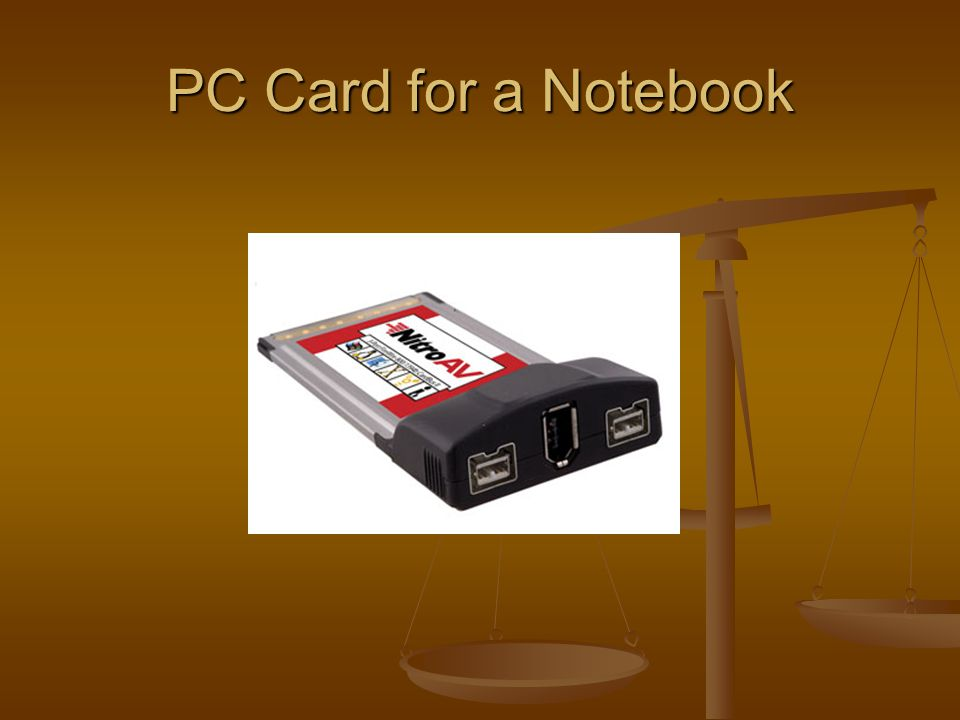 PC Card for a Notebook